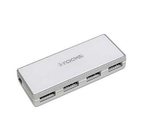 Brand New i-rocks IR-4300M USB 2.0 Crystal 4 Port Hub for Win XP Mac White