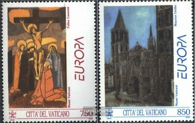 Gestempelt 1993 Zeitgenössische Kunst Streng Vatikanstaat 1099-1100 kompl.ausgabe
