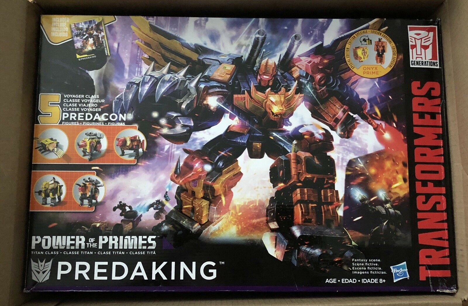 Huge Transformers Transformers Transformers Power Of The Primes PREDAKING New in Box, Titan Class Combiner 88766a