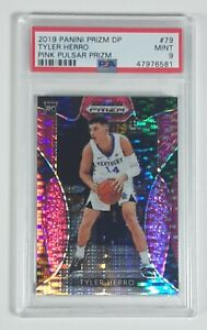 Tyler Herro 2019 Panini Prizm DP Pink Pulsar Rookie Card RC SSP PSA 9 LOW POP 41