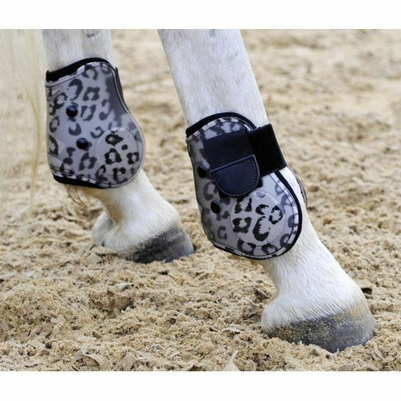 HKM Horse Pony Stylish Fashion Overreach Equine Predection Animal Bell Boots