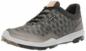 ECCO-Men-039-s-Biom-Hybrid-3-Gore-tex-Golf-Shoe-Black-Buffed-Silver-Size-10-0-2M8J