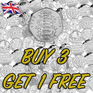 Rare-50p-Coins-Kew-Gardens-WWF-EU-Gruffalo-SNOWMAN-Sherlock-Holmes-HAWKING