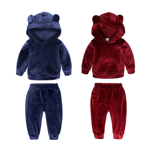 Pants 2 Pieces Suits Outfit Set Spring Autumn Baby Clothes Girls Boys Hoodie