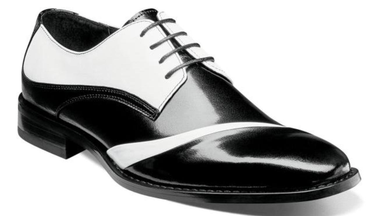 Stacy Adams Men's shoes Talmadge Folded Vamp Oxford Black White  25193-111
