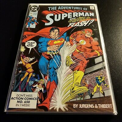 Adventures Of Superman 463 Feb 1990 Dc For Sale Online Ebay