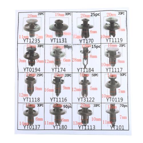 Voiture 620x Clips De Fixation Kit De Porte Poussoir Panneau Pare-chocs Vis attaches rivets Lon