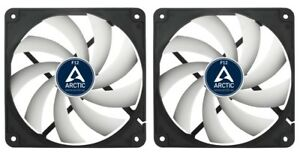 2-x-Pack-Arctic-Cooling-F12-120mm-12cm-PC-Gehaeuseluefter-1350-RPM-53CFM-3-Pin