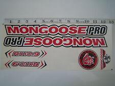 Mongoose PRO RX 10.9 Titanium Stickers Red, White & Black.