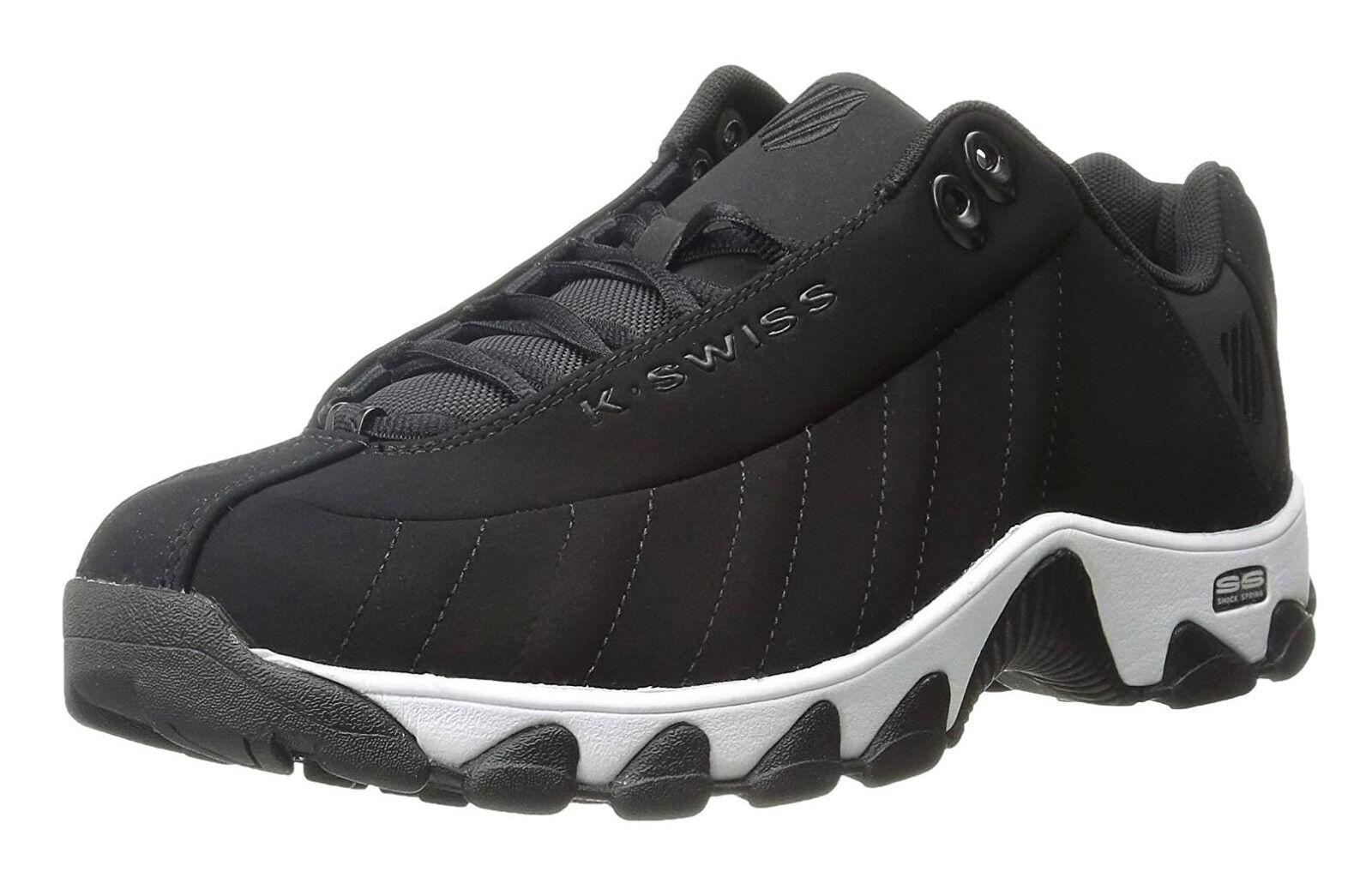 K-Swiss ST329 CMF Negro, blancoo para Hombre Zapatos tenis de entrenamiento 03426-002-M