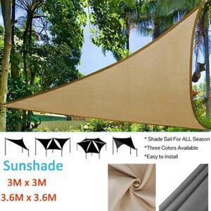 Shade-Awning-Camping-Picnic-Tent-Triangle-Sun-Shelter-Sunshade-Protection-Q