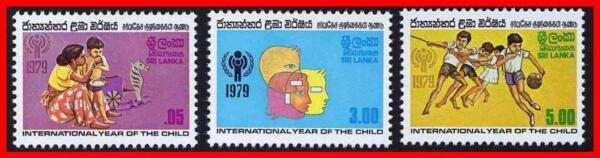 Brillant Sri Lanka 1979 Int 'l Année D'enfant Sc#553-55 Neuf Sans Charnière Sports (d02)