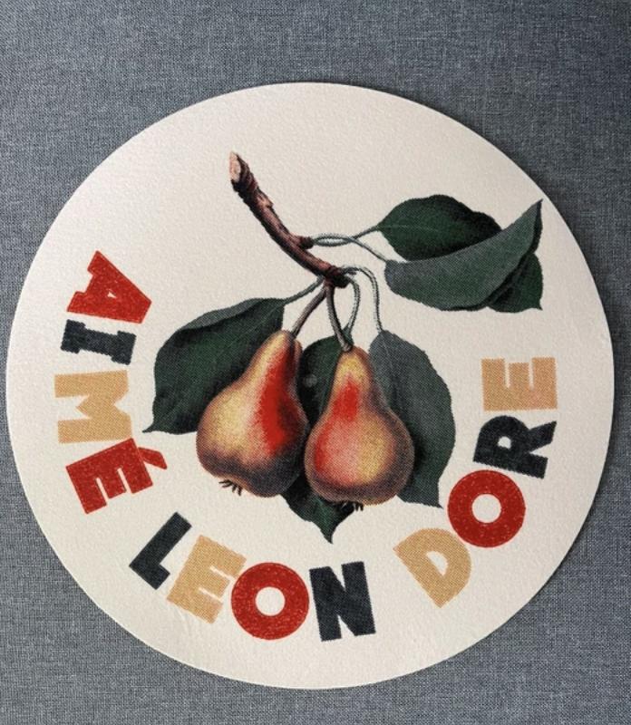 Aime leon Dore Graphic Slip Mats ALD pear