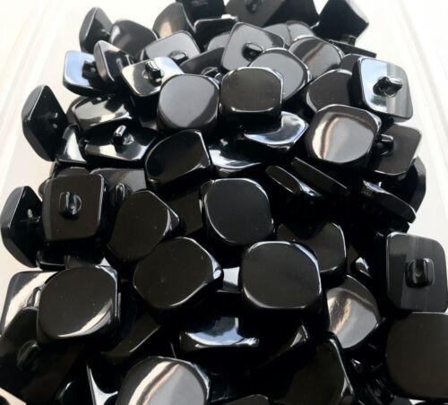 Y40 Cuadrado 22mm 28mm Negro Pulido caña Diag abrigo chaqueta botón botones