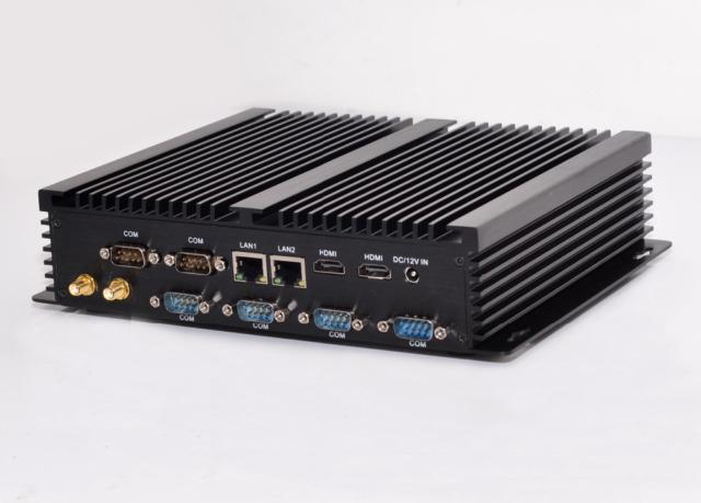 Mini Industrial PC Fanless Intel i5 4200U 1.60GHz 2x HDMI VGA 6x RS232 DHL P&P
