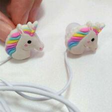 Cute Unicorn Rainbow Earphones 1.2m / Mini / Portable / Foldable / UK SELLER