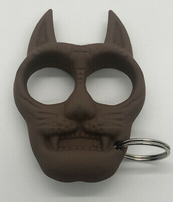 Self Defense Keyring Black Cat Big Cat Tiger Shaped Knuckles