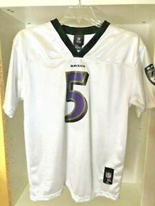 Details about NFL Baltimore Ravens White Jersey Shirt Top 5 Joe Flacco Size XL 18-20 Youth Men
