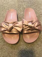 5ddea2df1c71 item 5 Steve Madden Silky Satin Bow Slide Sandals Pink Old Rose Flat Shoes  Size 5M -Steve Madden Silky Satin Bow Slide Sandals Pink Old Rose Flat Shoes  Size ...