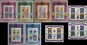 Queen-Elizabeth-Coronation-Anniversary-Souvenir-Sheets-Maldives-Barbuda-Antigua