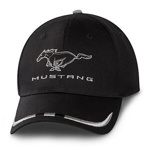 c3b1973887091 Image is loading Ford-Mustang-Black-and-Silver-Cotton-Hat