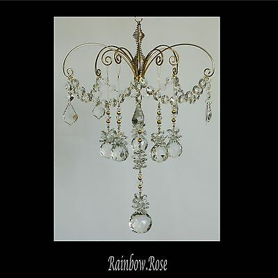listing for christina_1812 - Crystal Clear GOLD 2 tier Chandelier Balls/Baroques