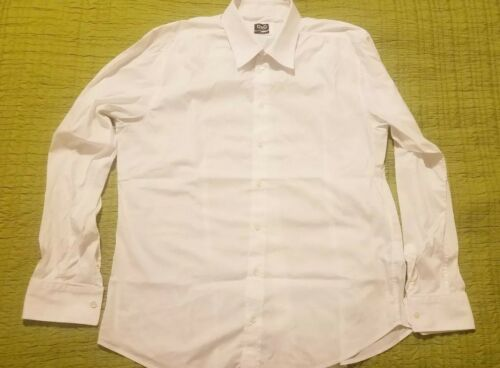 Dolce & Gabbana White Sheer Cotton Fitted Shirt, S