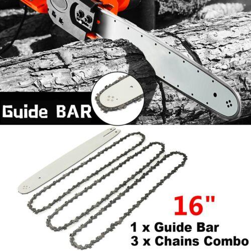 3 Chains for STIHL Alpina EFCO STIGA Chainsaws 16 Inch Chain Saw Guide Bar