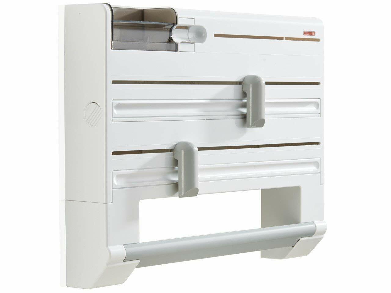 Kitchen Roll + Cling Film Holder Dispenser Wall Mounted Easy Dispenser Cutting