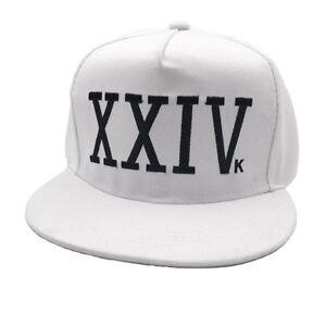 c9afcd0756401 XXIVk 24K White Baseball Cap Bruno Mars Hat 24 K Magic XXIV K ...