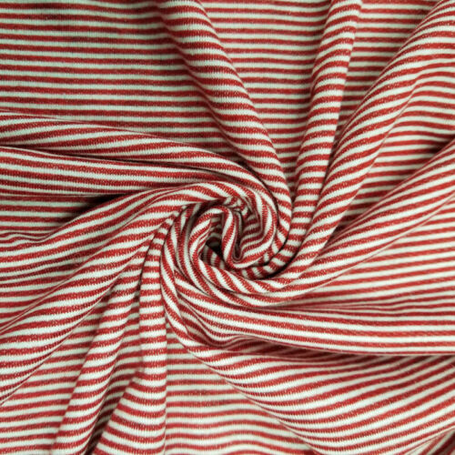 French Terry Striped Poly Rayon Spandex Fabric by the Yard Style 741