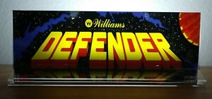 DEFENDER-Backlit-4-034-x-11-034-Marquee-w-The-Arcade-Light-Display
