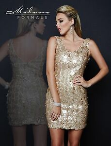 Milano-Formals-E1678-V-Neck-Fitted-Nude-Gold-Color-Sequin-Party-Mini-Dress-10