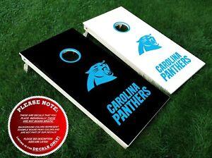 Carolina Panthers Cornhole Decals Six Vinyl Stickers For Diy Board