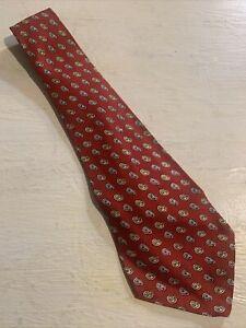 Vtg-1940s-40s-Rockabilly-Silk-Paisley-Foulard-Swing-Tie-Wide-Short-VLV-48-4-5