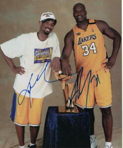 KOBE-BRYANT-amp-SHAQUILLE-O-039-NEAL-DUAL-SIGNED-AUTOGRAPH-11X14-PHOTO-SHAQ-LAKERS