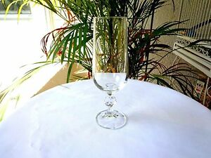 """Set of 4 Import Assoc. Bohemia Crystal Claudia Champagne Flutes 6 3/4"""" Tall"""