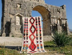 Vintage-Authentic-Woolen-Azilal-rug-Berber-Moroccan-Rug-Teppich-5-039-2-039-039-2-039-3-039-039