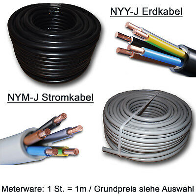 NYM-J 4x2,5 mm² Kabel versch Längen