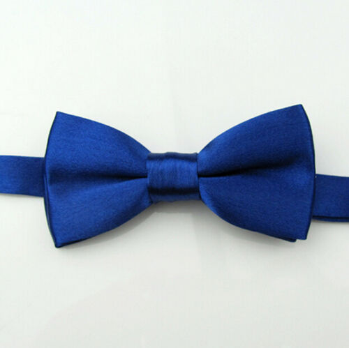 Children Boys Kids Bowtie Pre Tied Wedding Party School Solid satin Bow Tie
