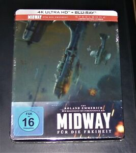 Midway per la libertà 4k Ultra HD Blu Ray + Blu Ray Edizione Limitata Steelbook Nuovo
