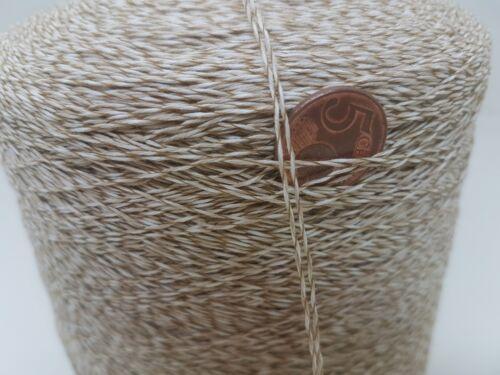 Wolle NaturGarn Stricken /& häkelnKone 100/% baumwolle  natur//Effekt 1KG bw19