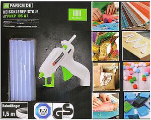 Parkside-PNKP-105-A1-Heissklebepistole-6-Stueck-Heissklebestifte-7mm-Basteln