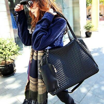 Lady Casual Fashion Wild Occident Lingge Big Bag Shoulder Bag Handbag#USHC01