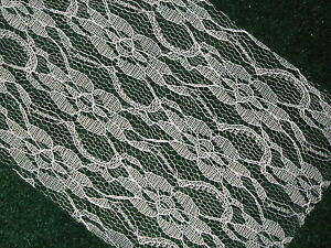Lace-Ribbon-White-6-inches-wide-Choose-your-Length-Weddings-amp-Special-Events