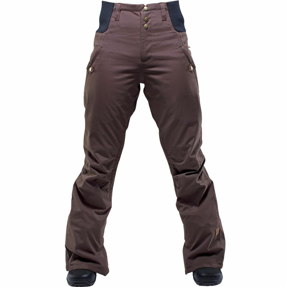 2016 NWT WOMEN'S RIDE HIGH WASTED SNOWBOARD PANT  M cocoa brown