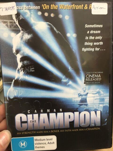 Carman The Champion ex-rental region 4 DVD (2001 boxing drama movie) rare