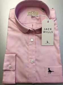 NWT-Women-039-s-Size-8-Oxford-Pale-Pink-Cotton-Classic-Fit-Shirt-By-Jack-Wills