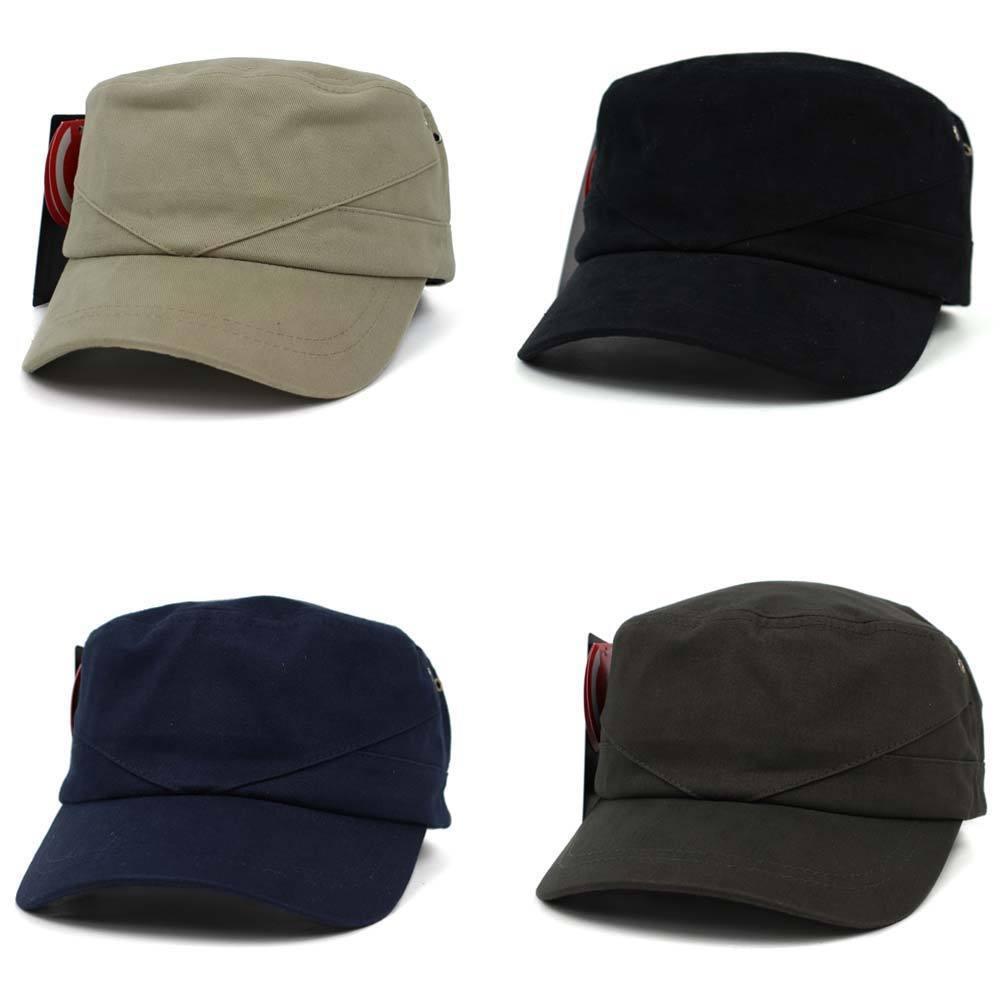 New V Line Military Trucker Stitch Casual Cadet Cap Trucker Military Hats Unisex Mens Women AZAZA 2f0a9f
