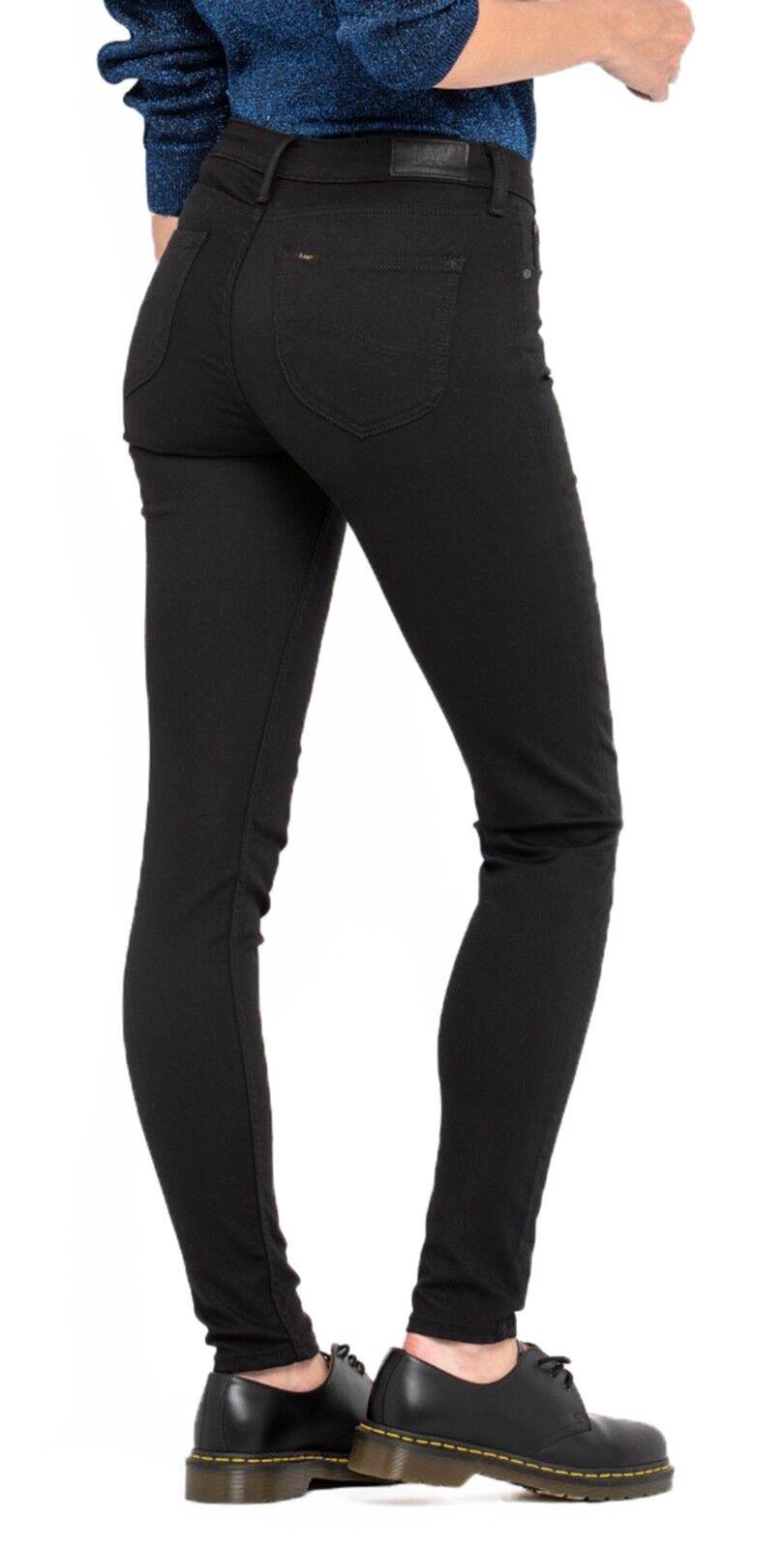 Lee Scarlett Donna Jeans Stretch DONNA skinny leg leg leg DARK Nero Risciacquo Jeans 4841ef